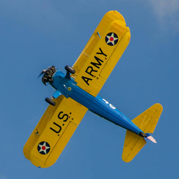 Photograph - Us Army B75 Biplane by Guy Whiteley