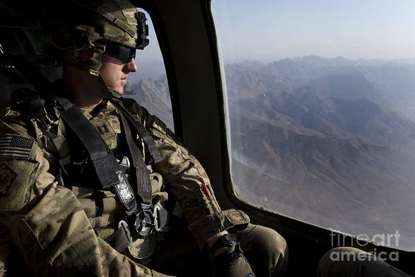 Army Air Corps Photograph - U.s. Army Soldier Looks Out The Window by Stocktrek Images