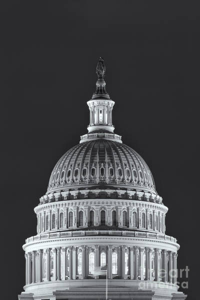 Photograph - Us Capitol Dome At Night II by Clarence Holmes