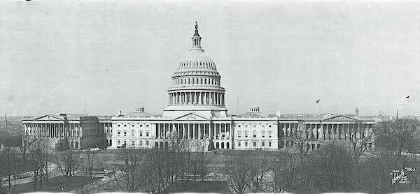 Senate Photograph - Us Capitol Washington Dc 1916 by Fred Schutz Collection