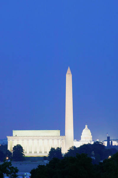 Us Capitol Photograph - Us Capitol, Washington Monument by Panoramic Images