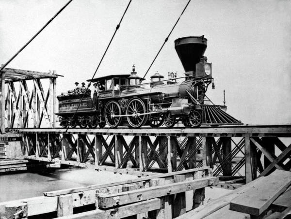 1863 Photograph - Us Civil War Train by Us Army/science Photo Library