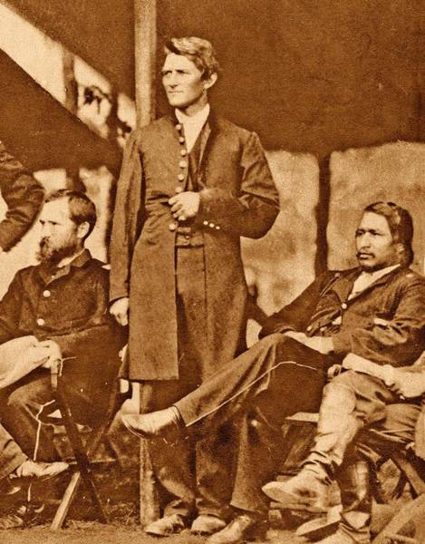 Ely Wall Art - Photograph - Us Civil War Union Officers by American Philosophical Society