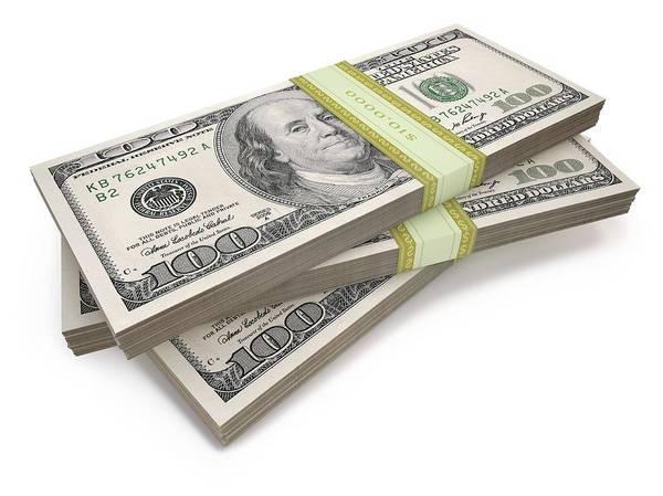 One Dollar Photograph - Us Dollar Bills by Ktsdesign