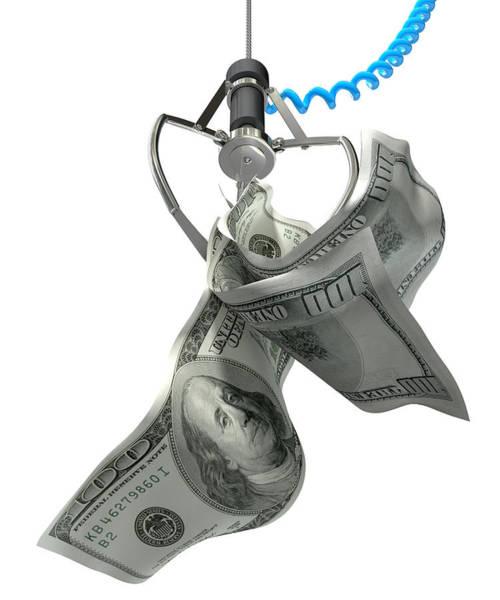 Claws Digital Art - Us Dollars In A Robotic Claw by Allan Swart