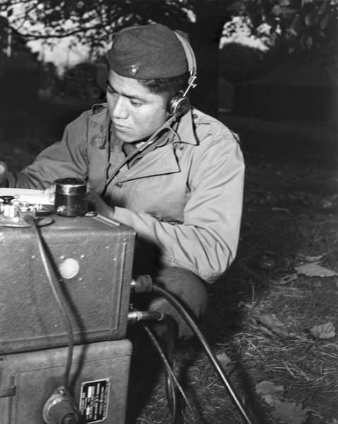 Code Talkers Photograph - U.s. Marine Corporal Lloyd Oliver by Everett