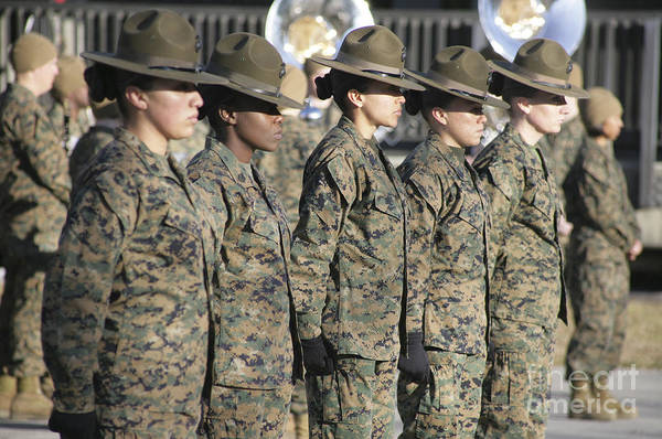 Wall Art - Photograph - U.s. Marine Corps Female Drill by Stocktrek Images