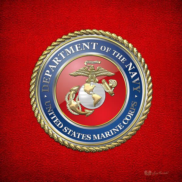 Digital Art - U. S. Marine Corps - U S M C Seal  by Serge Averbukh