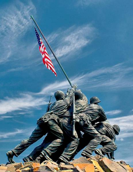 Us Marine Corps War Memorial Art Print