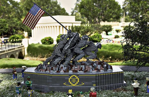 Marine Corps Photograph - Us Marine Corps War Memorial by Ricky Barnard