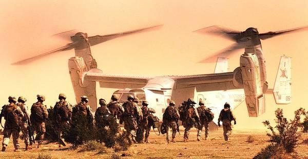 Wall Art - Photograph - Us Marine Medium Tiltrotor Squadron 365 Mv 22 Osprey by US Marine Corps Sgt Mark Fayloga - L Brown
