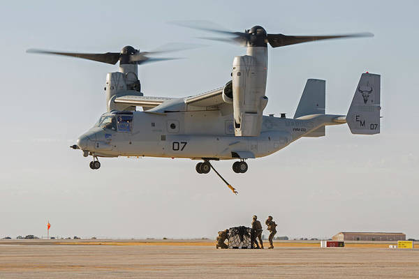 Marine Corps Photograph - Us Marines Deploying From Tiltrotor Aircraft by Us Marine Corps/science Photo Library