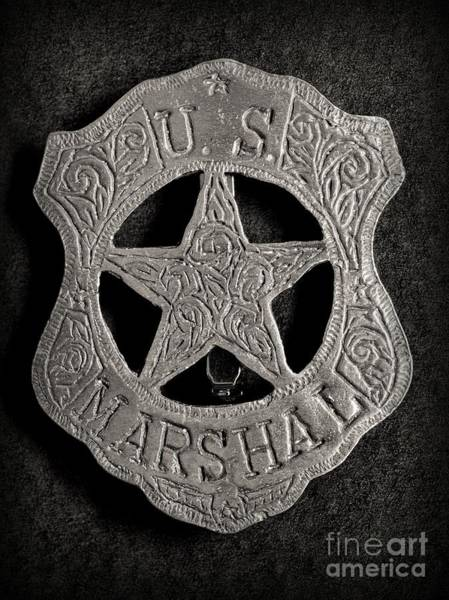 Wall Art - Photograph - Us Marshal - Law Enforcement - Badge - Cowboy by Paul Ward