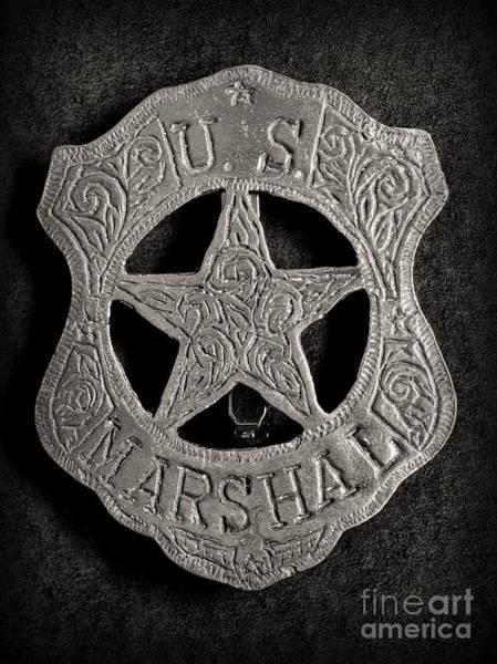 Us Southwest Photograph - Us Marshal - Law Enforcement - Badge - Cowboy by Paul Ward