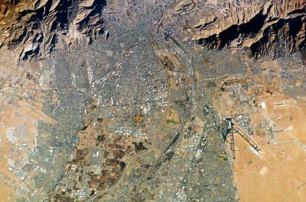 El Paso Wall Art - Photograph - Us-mexican Border by Nasa/science Photo Library
