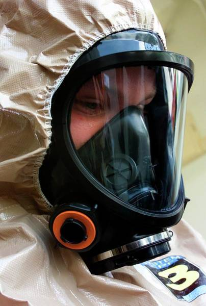 Gasmask Photograph - Us Military Medical Response Exercise by Us Marine Corps/j.a. Lee Ii