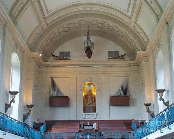 Photograph - Us Naval Academy Chapel Interior by Mark Dodd