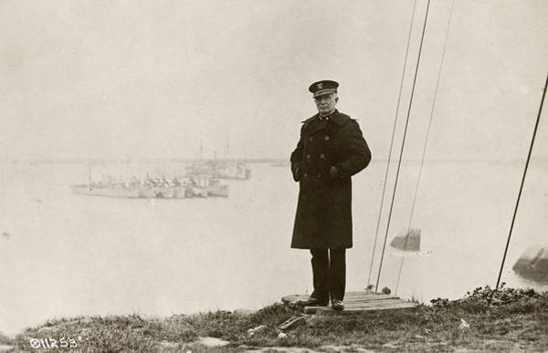 Wall Art - Photograph - Us Naval Officer, C1920 by Granger