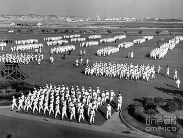 Wall Art - Photograph - U.s. Naval Training Center, San Diego by Photo Researchers