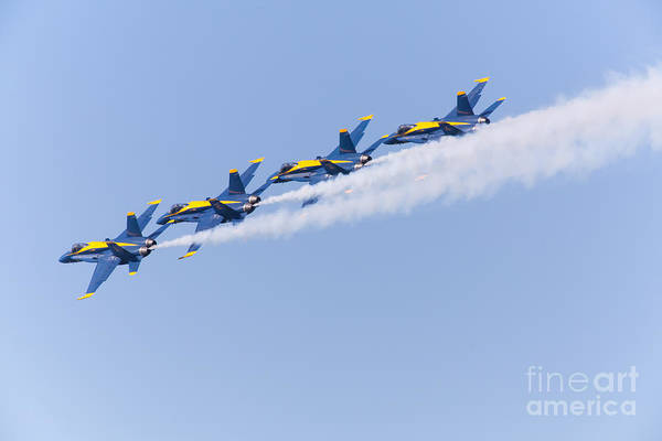 Photograph - Us Navy Blue Angels F18 Supersonic Jets 5d29646 by Wingsdomain Art and Photography