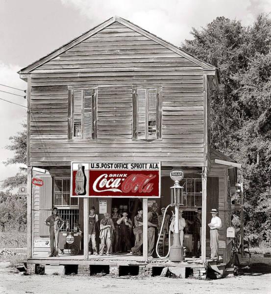 U.s. Post Office General Store Coca-cola Signs Sprott  Alabama Walker Evans Photo C.1935-2014. Art Print