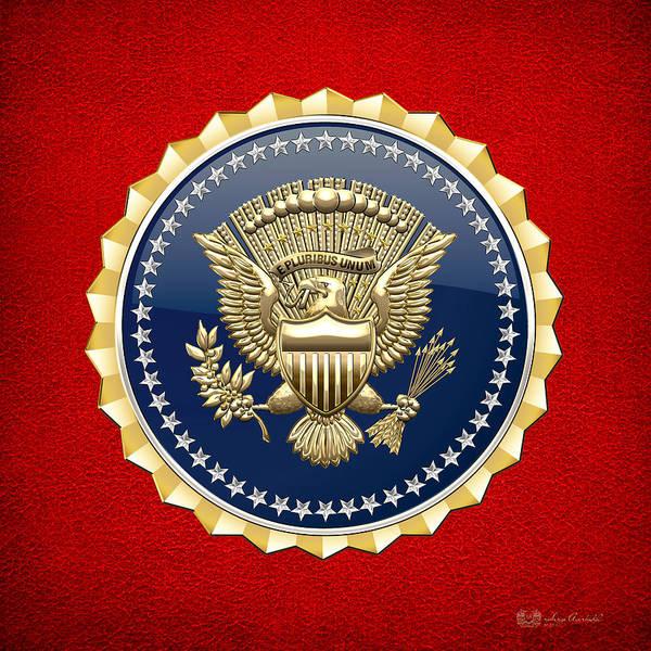 Digital Art - Presidential Service Badge - P S B by Serge Averbukh