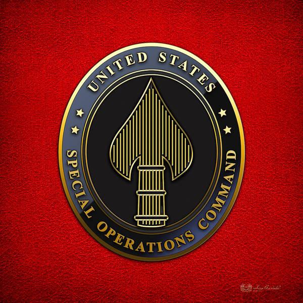 Digital Art - U. S. Special Operations Command - U S S O C O M   Emblem by Serge Averbukh