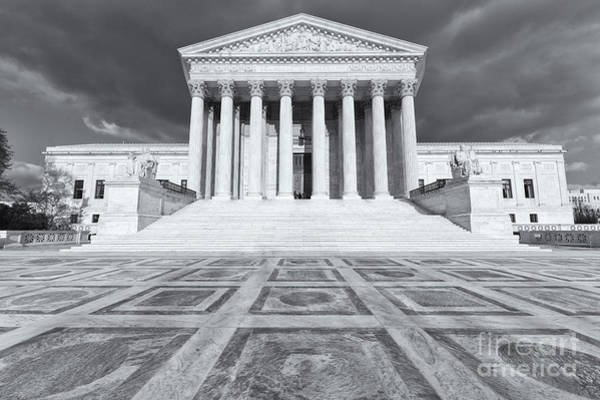 Photograph - Us Supreme Court Building Ix by Clarence Holmes