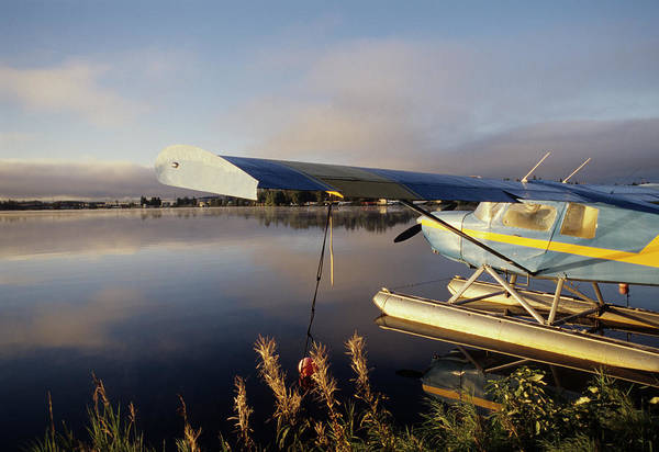 Anchorage Photograph - Usa, Alaska, Float Plane, Anchorage by Gerry Reynolds