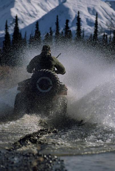 Alaskan Photograph - Usa, Alaska, Park Ranger, All Terrain by Gerry Reynolds