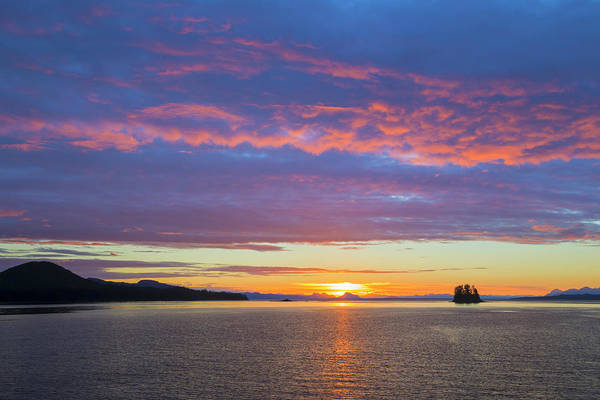 Don Photograph - Usa, Alaska Sunset On Flynn Cove Credit by Jaynes Gallery