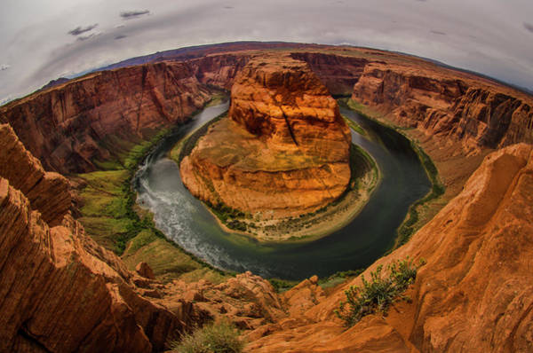 Horseshoe Bend Photograph - Usa, Arizona, Colorado River, Horseshoe by Jerry Ginsberg