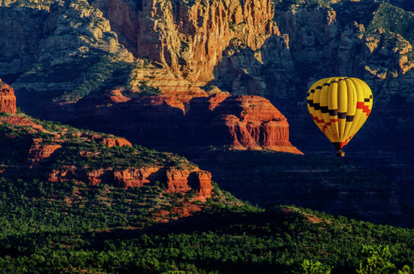 Green Jay Photograph - Usa, Arizona Hot-air Balloon Floats by Jaynes Gallery