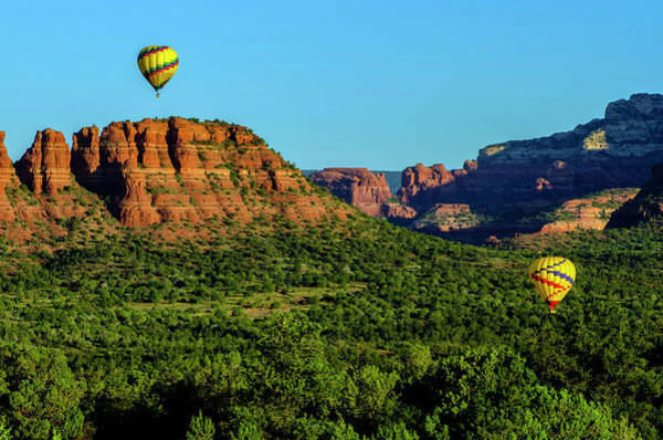 Green Jay Photograph - Usa, Arizona Hot-air Balloons Floats by Jaynes Gallery