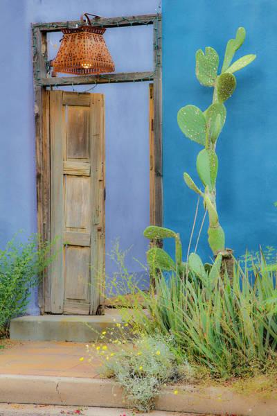 Wall Art - Photograph - Usa, Arizona, Tucson, Blue House by Hollice Looney