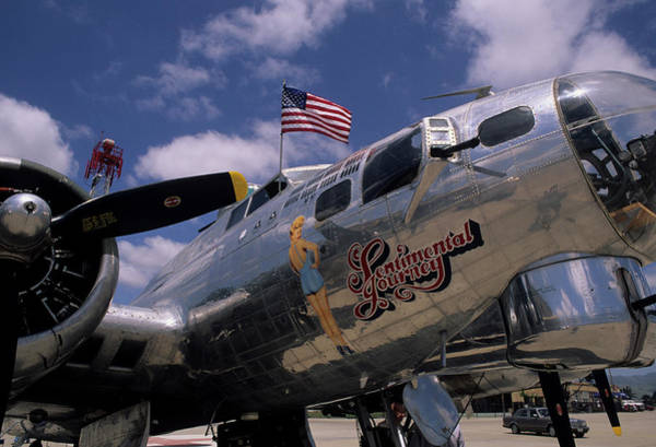 B-17 Bomber Photograph - Usa, B-17 Bomber Aircraft, Salinas by Gerry Reynolds