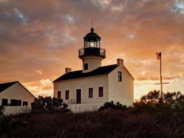 Cabrillo Photograph - Usa, California, San Diego, Old Point by Ann Collins