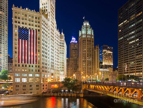 Michigan Ave Photograph - Usa - Chicago by Jeff Lewis