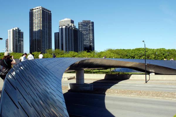 Millennium Park Photograph - Usa, Chicago, Millennium Park, Bp by Alessandra Santarelli And Joeff Davis