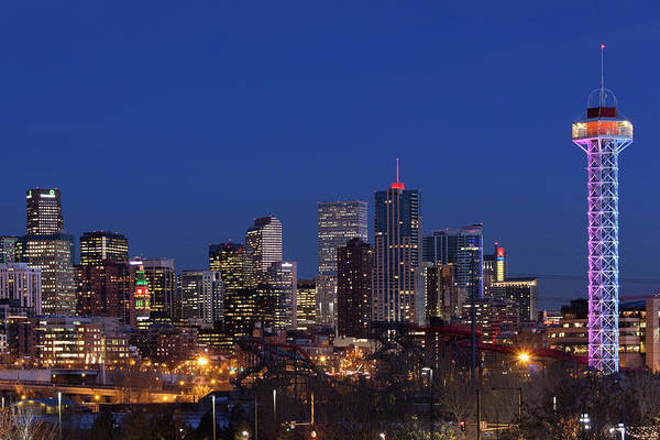 Mile High City Photograph - Usa, Colorado, Denver, City View by Walter Bibikow