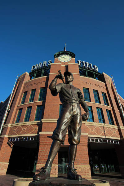 Mile High City Photograph - Usa, Colorado, Denver, Coors Field by Walter Bibikow
