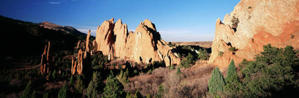 State Of Colorado Photograph - Usa, Colorado, Garden Of The Gods State by Walter Bibikow