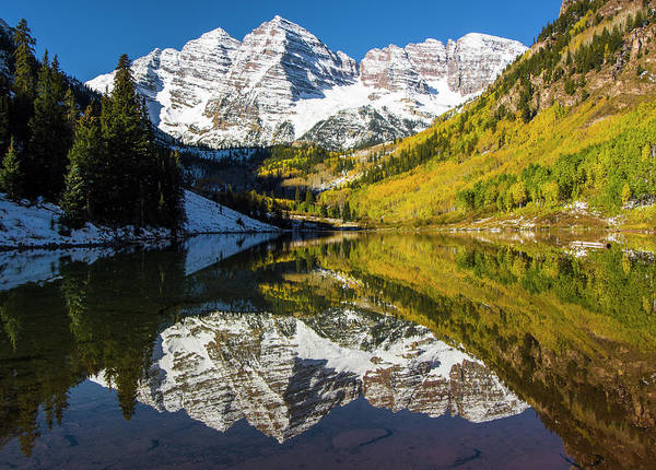 Lake George Photograph - Usa, Colorado, Maroon Bells by George Theodore