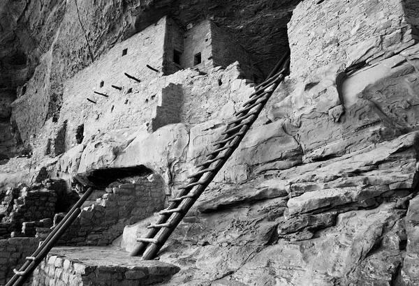 Anasazi Ruin Photograph - Usa, Colorado, Mesa Verde, Ladder House by John Ford