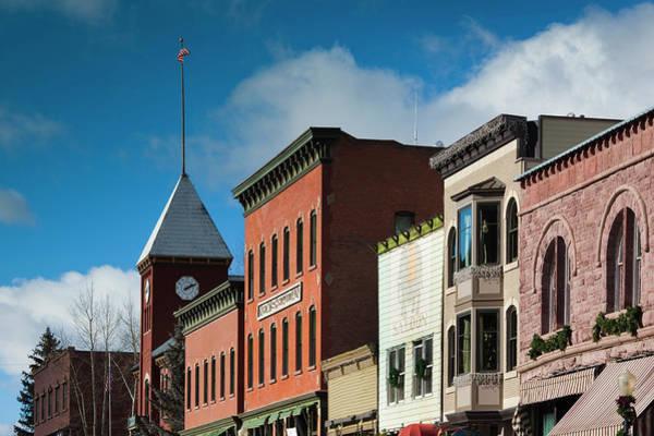 Telluride Photograph - Usa, Colorado, Telluride, Main Street by Walter Bibikow
