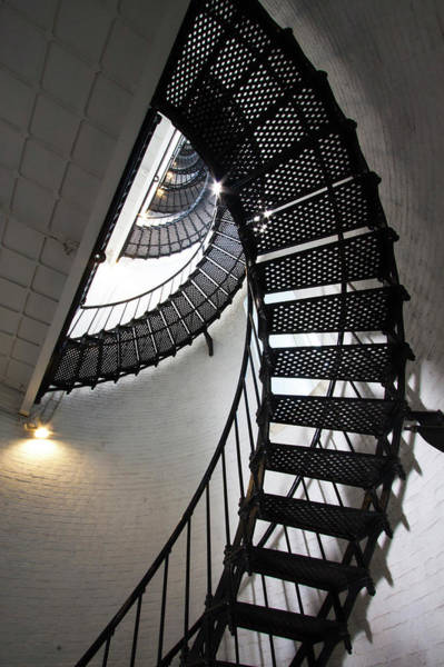 Saint Augustine Florida Photograph - Usa, Florida, Saint Augustine, Stairs by Joanne Wells