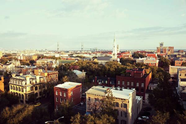 Savannah Photograph - Usa,  Georgia, Savannah, Cityscape by Henryk Sadura