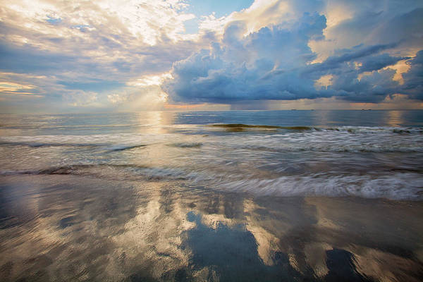Wall Art - Photograph - Usa, Georgia, Tybee Island, Sunrise by Joanne Wells