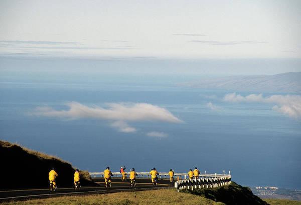 Haleakala Crater Photograph - Usa, Hawaii, Downhill Bicycling by Gerry Reynolds