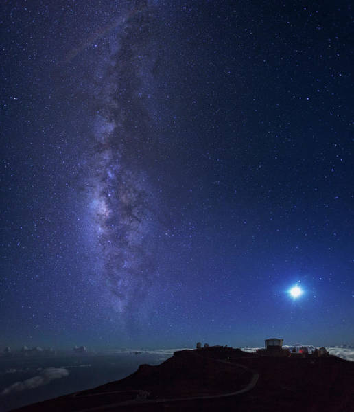 Maui Photograph - Usa, Hawaii, Maui, Milky Way by Michele Falzone